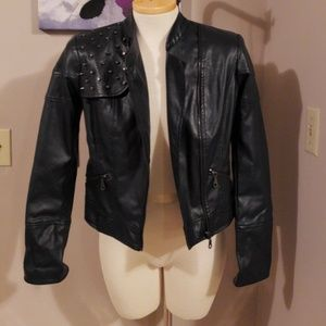 SETH AARON faux leather jacket size 2